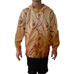Texture Material Textile Gold Hooded Wind Breaker (kids)