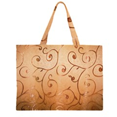 Texture Material Textile Gold Large Tote Bag