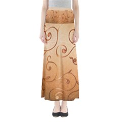 Texture Material Textile Gold Maxi Skirts