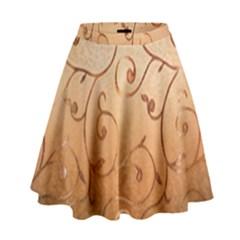 Texture Material Textile Gold High Waist Skirt
