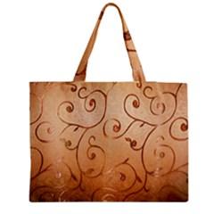 Texture Material Textile Gold Medium Zipper Tote Bag
