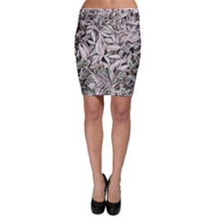 Ice Leaves Frozen Nature Bodycon Skirt