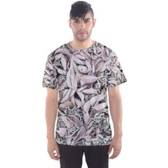 Ice Leaves Frozen Nature Men s Sport Mesh Tee