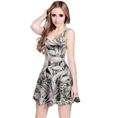 Ice Leaves Frozen Nature Reversible Sleeveless Dress
