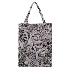 Ice Leaves Frozen Nature Classic Tote Bag