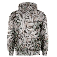 Ice Leaves Frozen Nature Men s Pullover Hoodie