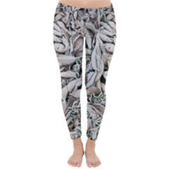 Ice Leaves Frozen Nature Classic Winter Leggings