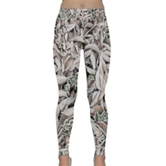 Ice Leaves Frozen Nature Classic Yoga Leggings