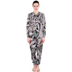 Ice Leaves Frozen Nature OnePiece Jumpsuit (Ladies)