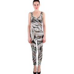 Ice Leaves Frozen Nature Onepiece Catsuit