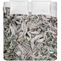Ice Leaves Frozen Nature Duvet Cover Double Side (king Size)