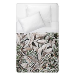 Ice Leaves Frozen Nature Duvet Cover (single Size)