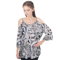Ice Leaves Frozen Nature Flutter Tees