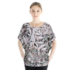 Ice Leaves Frozen Nature Blouse