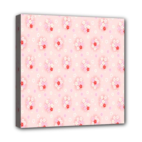 Flower Arrangements Season Pink Mini Canvas 8  X 8