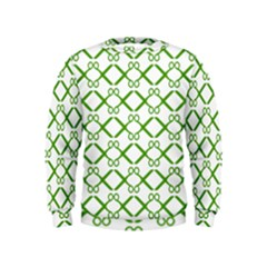 Scissor Green Kids  Sweatshirt