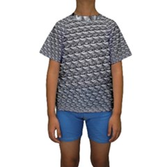 Mandelbuld 3d Metalic Kids  Short Sleeve Swimwear