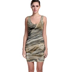 Rock Texture Background Stone Sleeveless Bodycon Dress