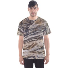 Rock Texture Background Stone Men s Sport Mesh Tee