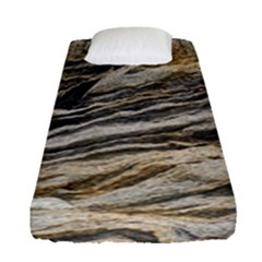 Rock Texture Background Stone Fitted Sheet (single Size)
