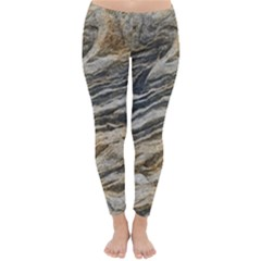 Rock Texture Background Stone Classic Winter Leggings