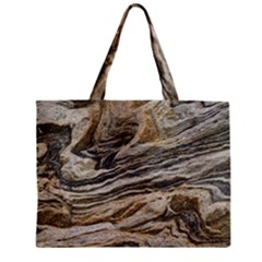 Rock Texture Background Stone Zipper Mini Tote Bag