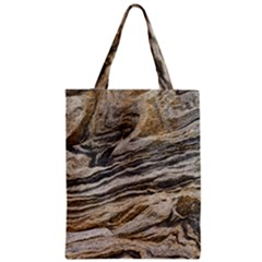 Rock Texture Background Stone Zipper Classic Tote Bag