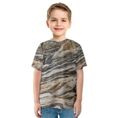 Rock Texture Background Stone Kids  Sport Mesh Tee