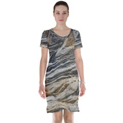 Rock Texture Background Stone Short Sleeve Nightdress