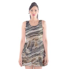 Rock Texture Background Stone Scoop Neck Skater Dress