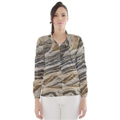 Rock Texture Background Stone Wind Breaker (women)