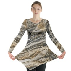 Rock Texture Background Stone Long Sleeve Tunic