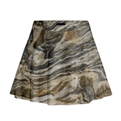 Rock Texture Background Stone Mini Flare Skirt