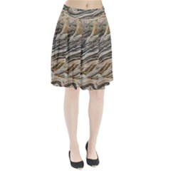 Rock Texture Background Stone Pleated Skirt