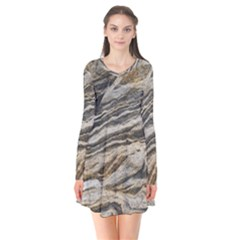 Rock Texture Background Stone Flare Dress