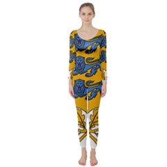 Coat of Arms of Estonia Long Sleeve Catsuit