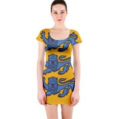 Lesser Arms of Estonia  Short Sleeve Bodycon Dress