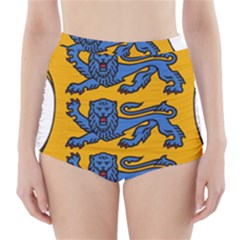 Lesser Arms of Estonia  High-Waisted Bikini Bottoms