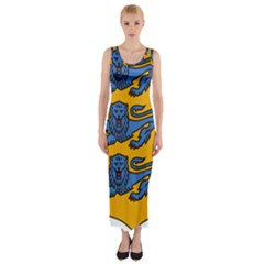 Lesser Arms of Estonia Fitted Maxi Dress