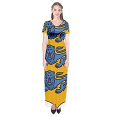 Lesser Arms of Estonia Short Sleeve Maxi Dress