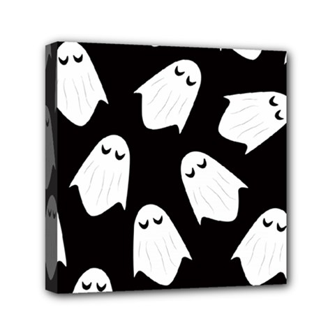 Ghost Halloween Pattern Mini Canvas 6  x 6
