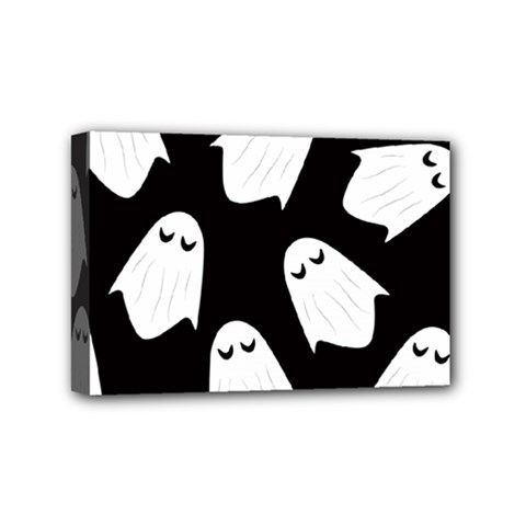 Ghost Halloween Pattern Mini Canvas 6  x 4
