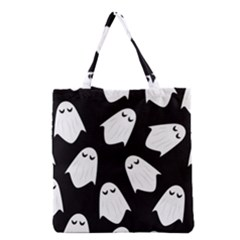 Ghost Halloween Pattern Grocery Tote Bag
