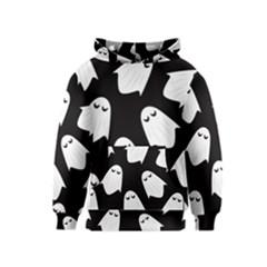 Ghost Halloween Pattern Kids  Pullover Hoodie