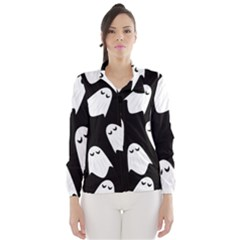 Ghost Halloween Pattern Wind Breaker (women)