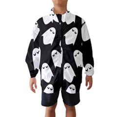 Ghost Halloween Pattern Wind Breaker (kids)