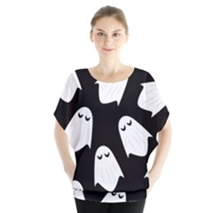 Ghost Halloween Pattern Blouse