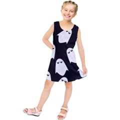 Ghost Halloween Pattern Kids  Tunic Dress