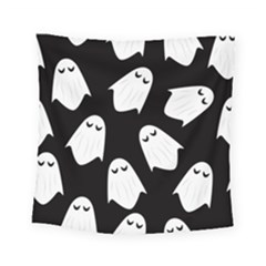 Ghost Halloween Pattern Square Tapestry (small)