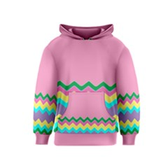 Easter Chevron Pattern Stripes Kids  Pullover Hoodie